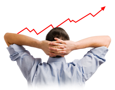 Creating Wealth Without Risk  Image of line chart going up